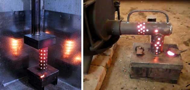 Печь на отработке своими руками — как сделать самодельную печку в гараж