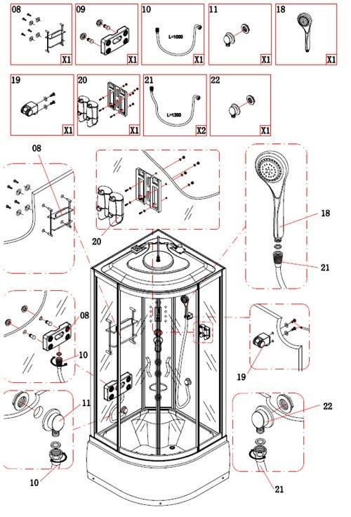 Подключение душевой кабины к водопроводу, инструкция, советы