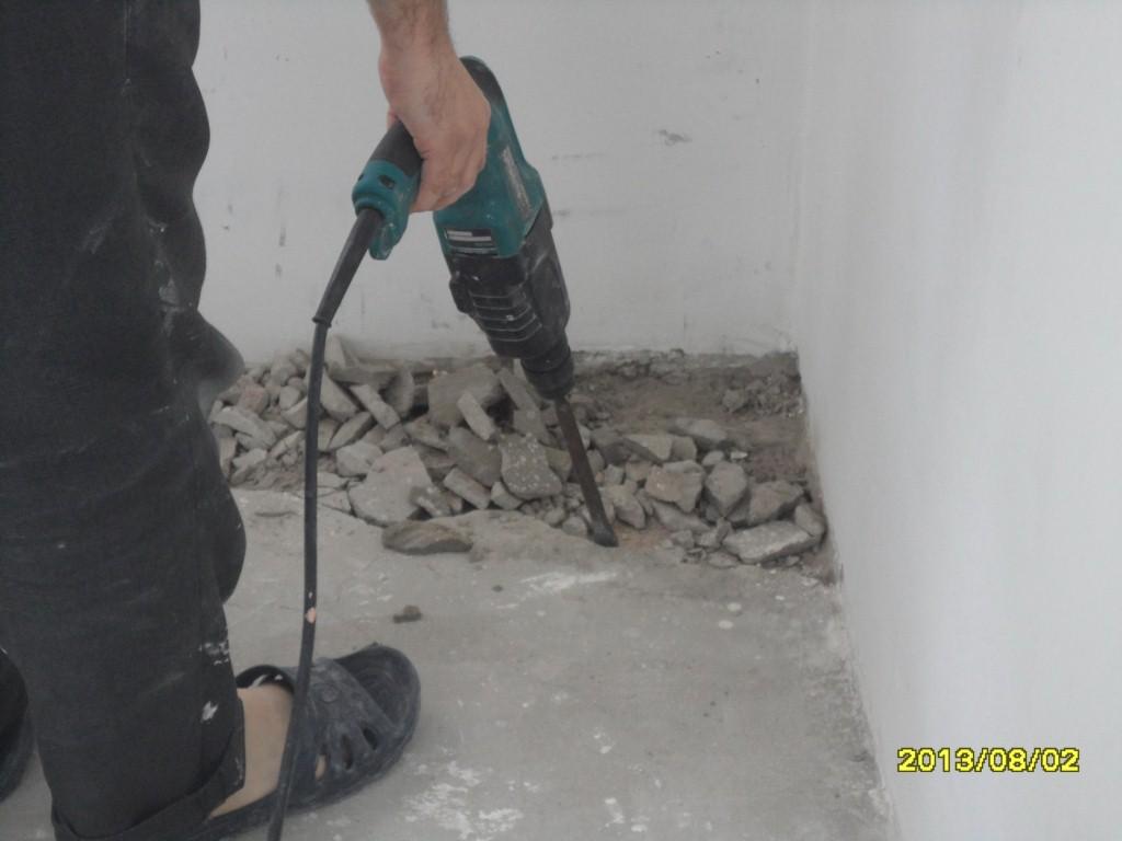 Ремонт выбоин стяжки бетонного пола своими руками