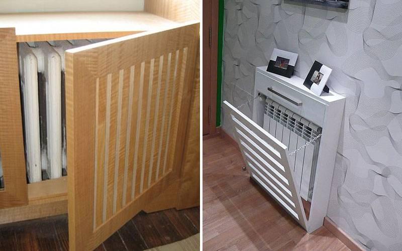 Как спрятать трубы отопления в квартире, комнате: чем закрыть батареи, фото, можно ли скрыть гиспокартоном, замаскировать розеткой