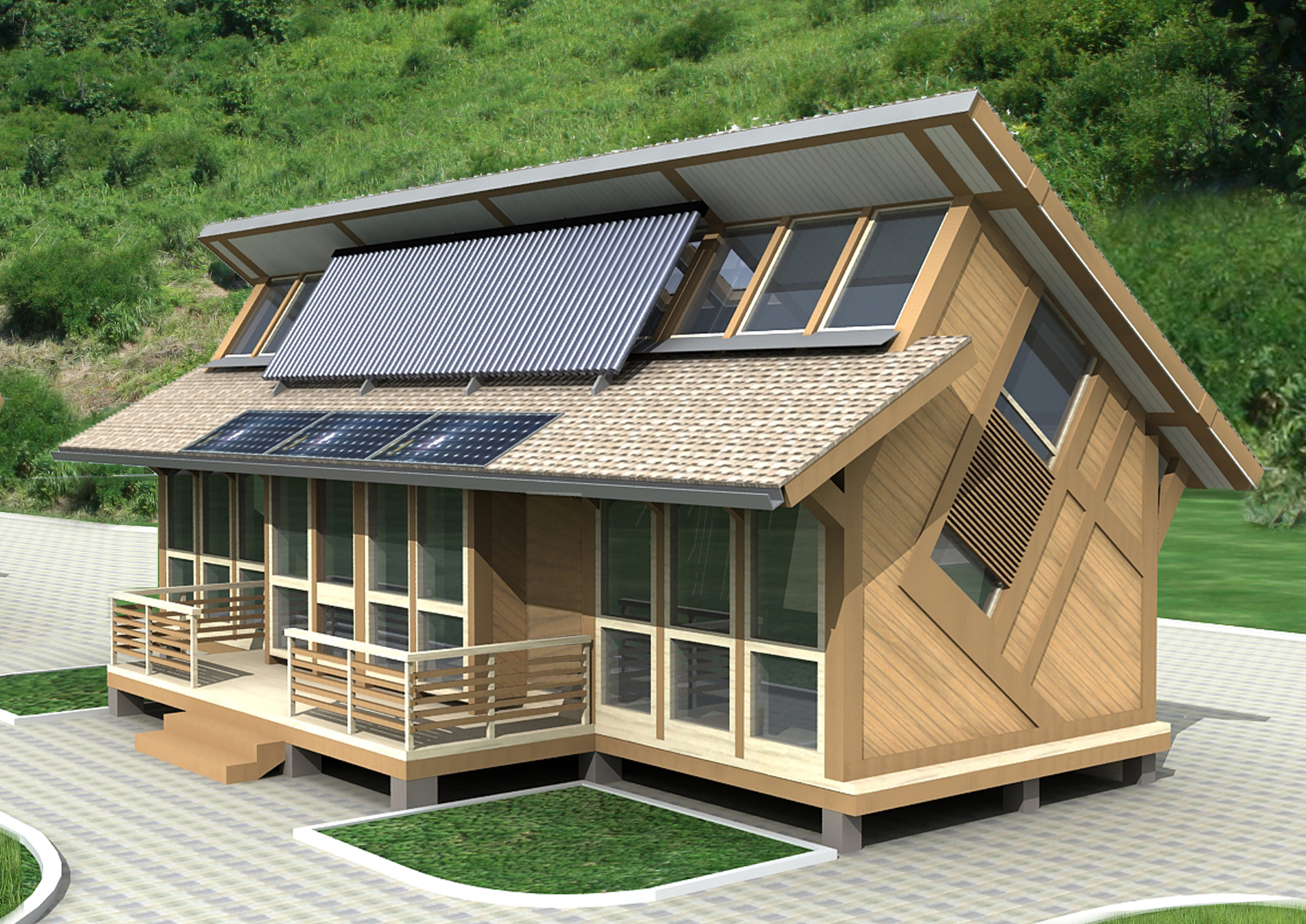 Оборудование энергоэффективного эко-дома для его автономности
