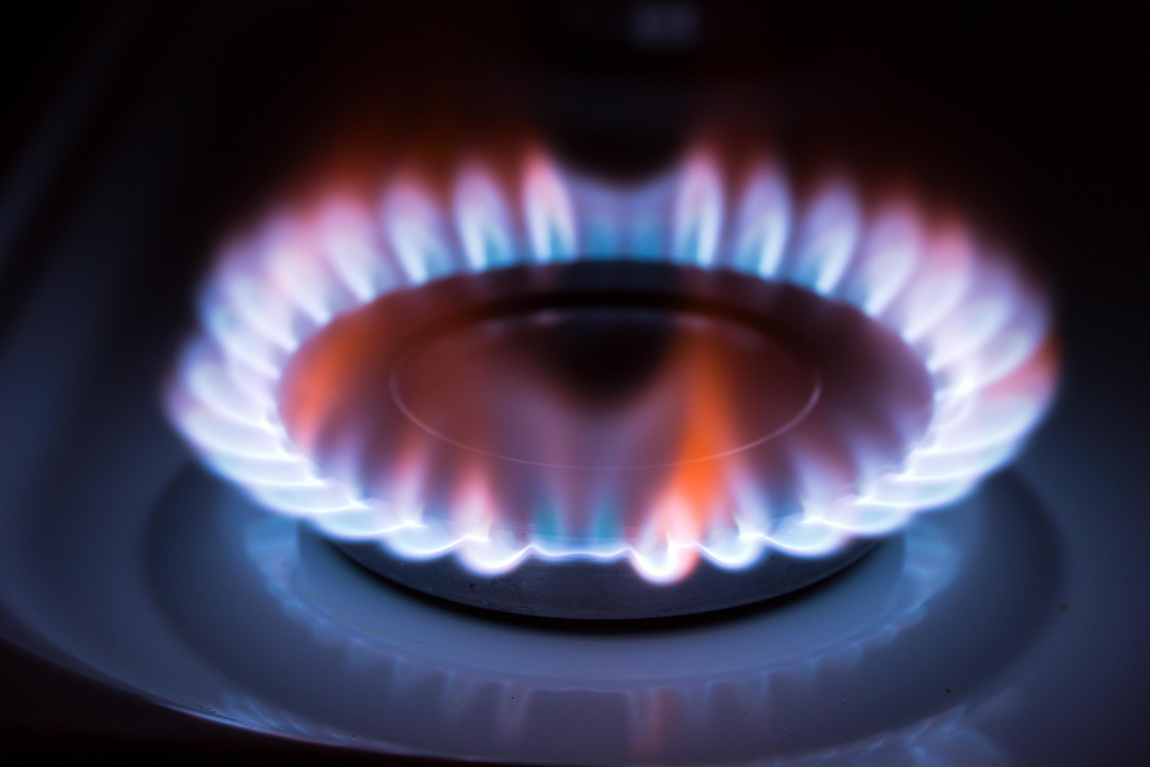 Газ горит зеленым пламенем