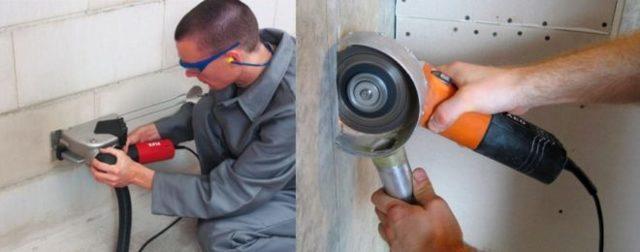 Как и чем штробить стены под проводку: инструктаж по работе - точка j