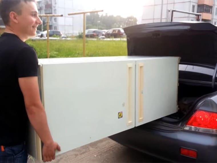 Секреты и правила транспортировки холодильника. можно ли перевозить в машине лежа, под наклоном и на боку?