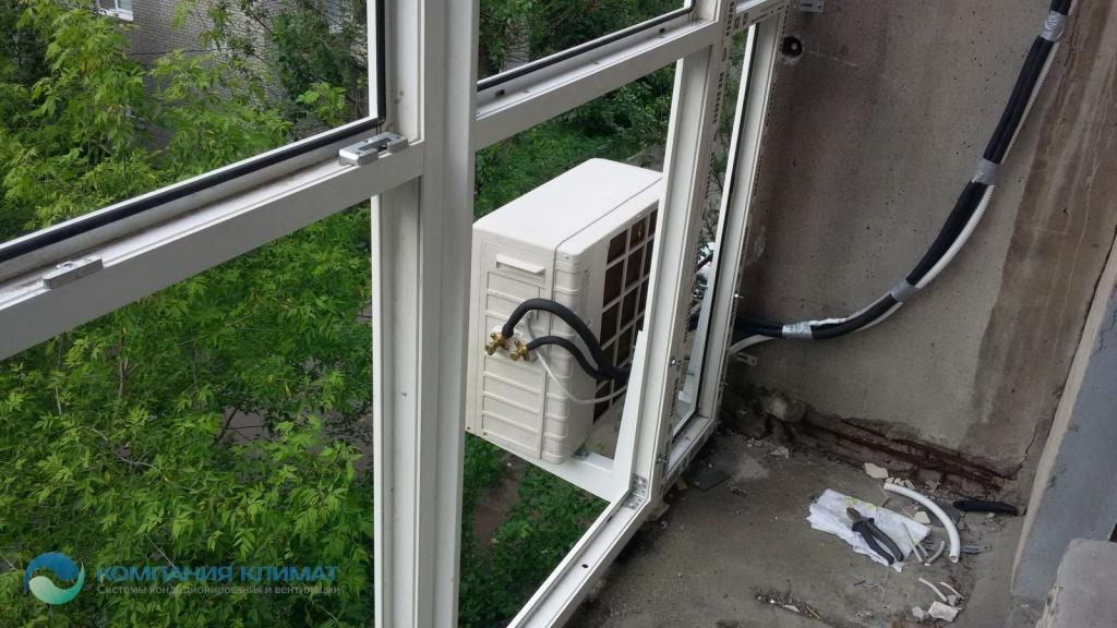 Установка кондиционера на балконе или лоджии: основы, как крепить наружный блок