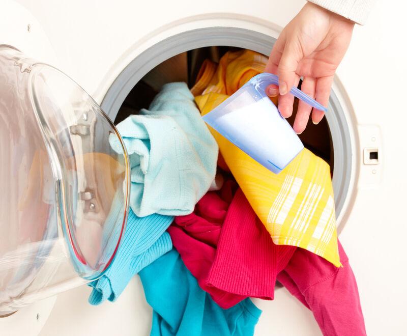 В какой отсек сыпать порошок в стиральной машине lg?