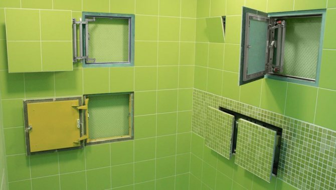 Выбираем сантехнические люки для ванной и туалета: размеры, виды + фото » интер-ер.ру