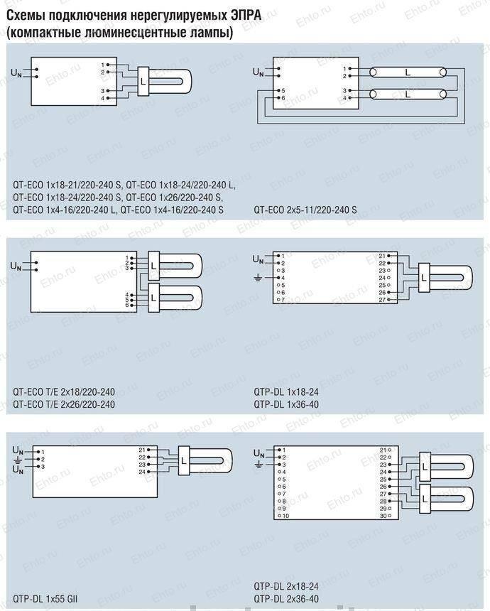 Что такое эпра для люминесцентных ламп: как работает + схемы подключения - точка j
