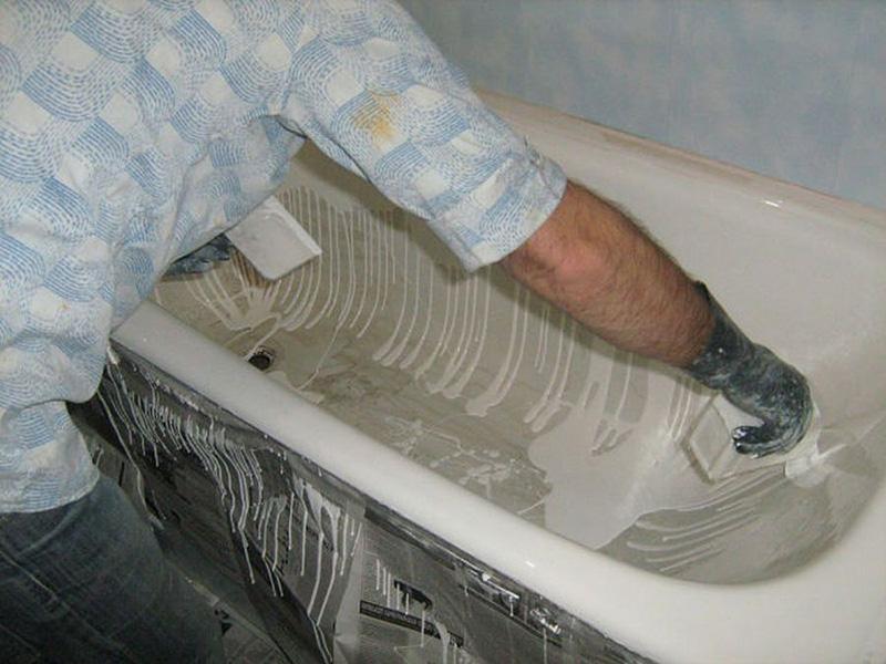 Восстановление чугунных ванн: как восстановить покрытие эмали старой ванны