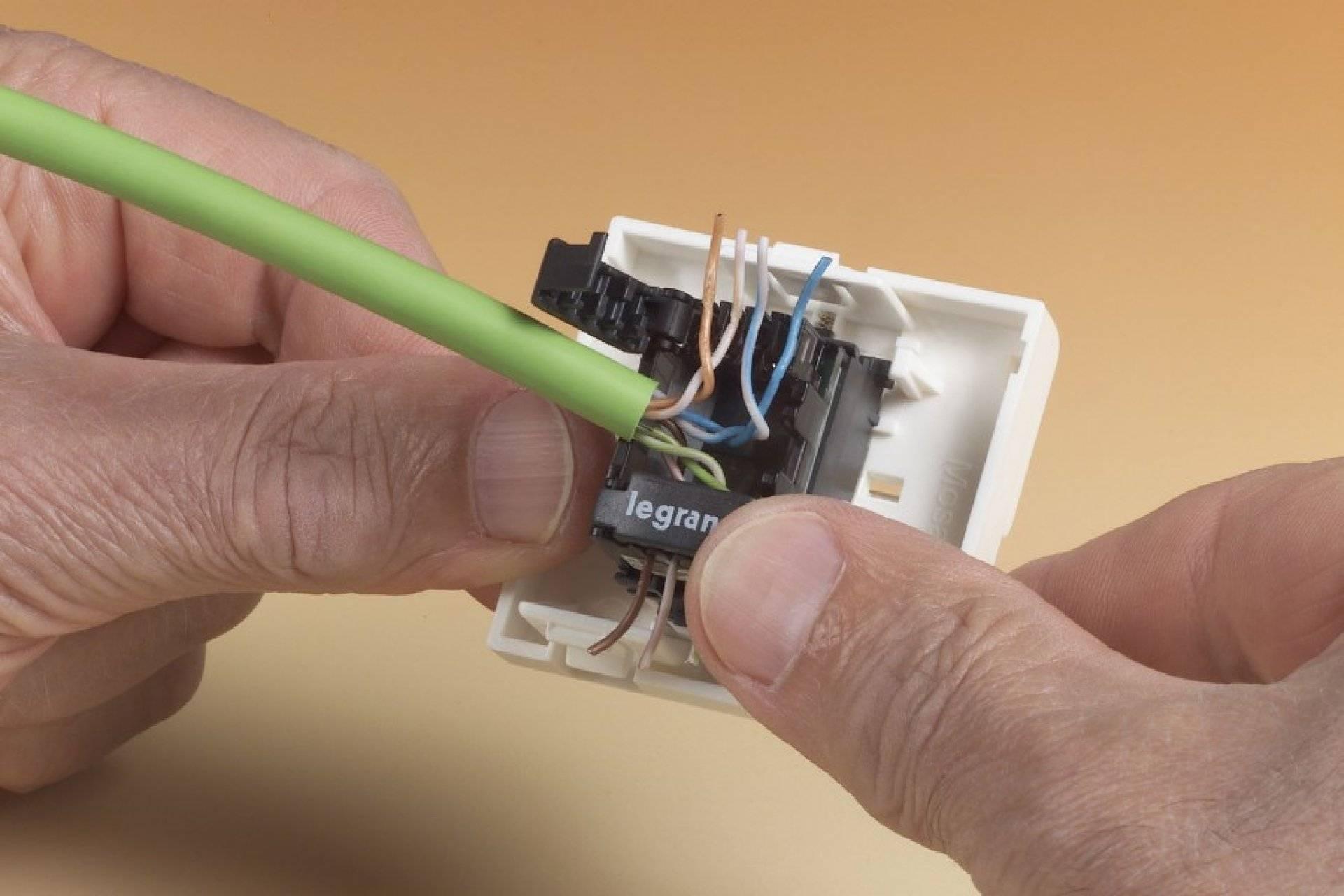 Схема подключения телефонной розетки