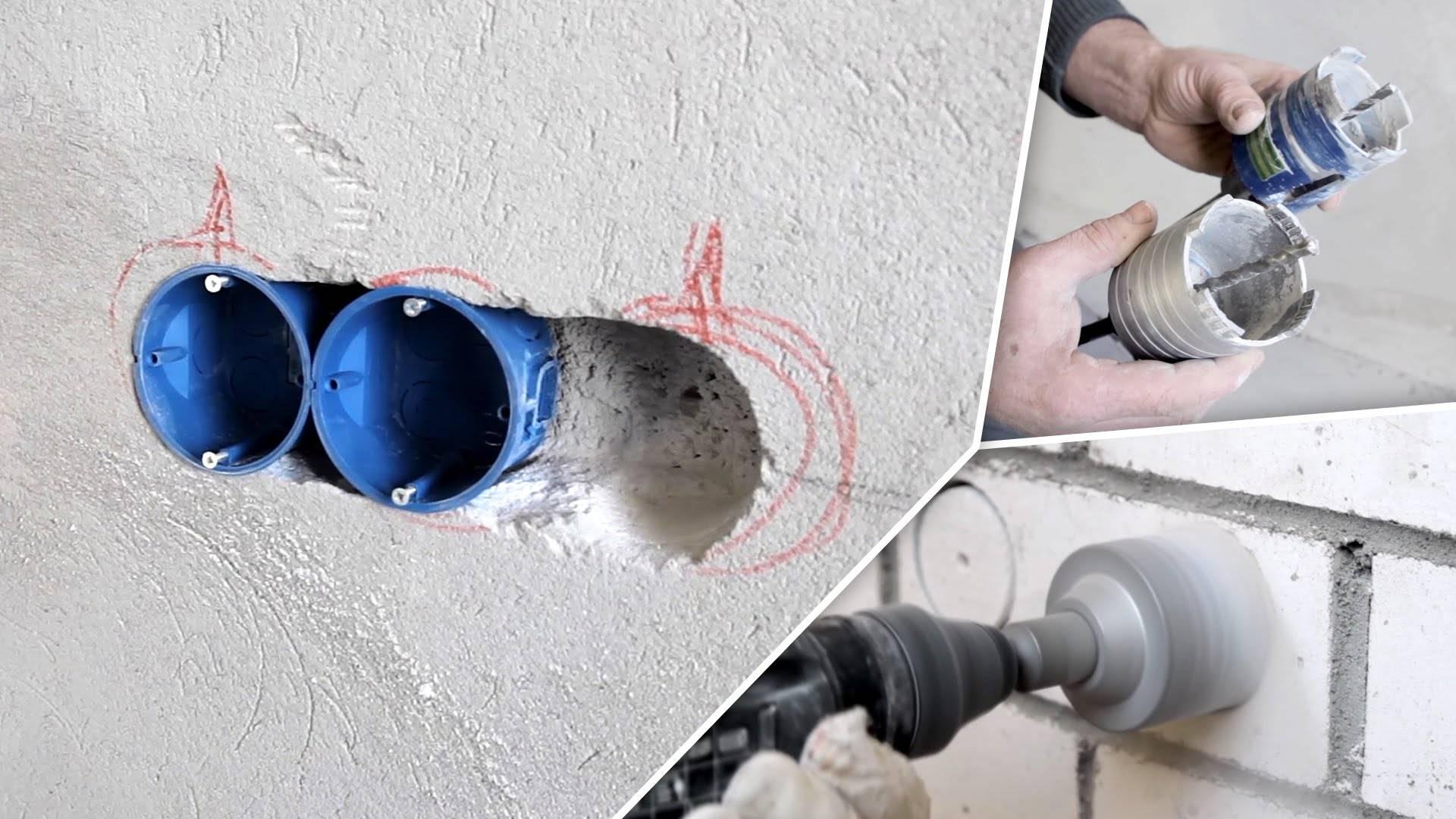 Установка подрозетников в гипсокартон для монтажа розеток и выключателей
