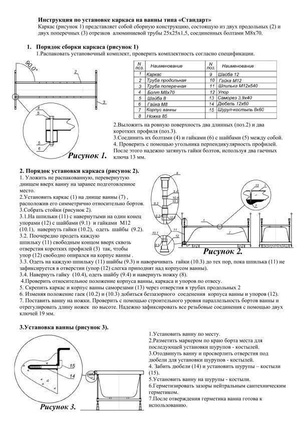 Вы узнаете, как установить стальной каркас для акриловой ванны
