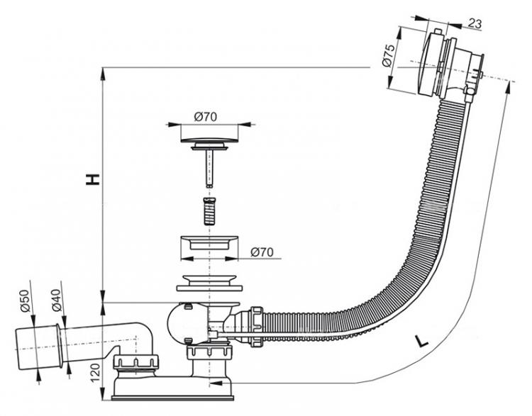 Слив для раковины — сборка и установка слива с переливом