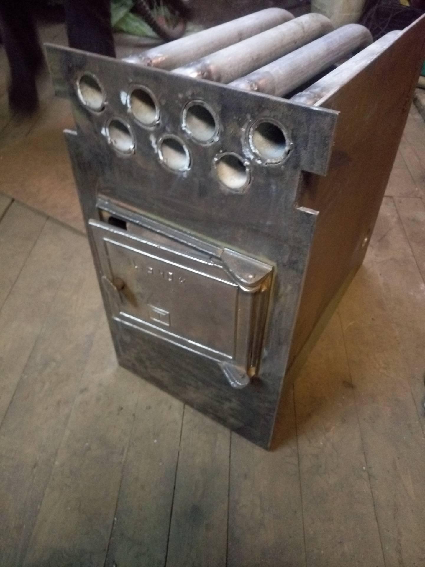 Печка для гаража своими руками