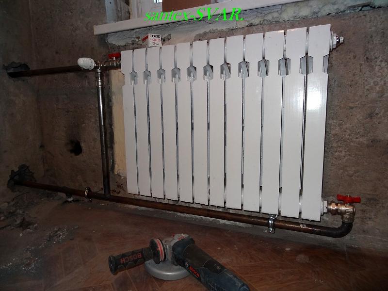 Установка кранов на батареи отопления