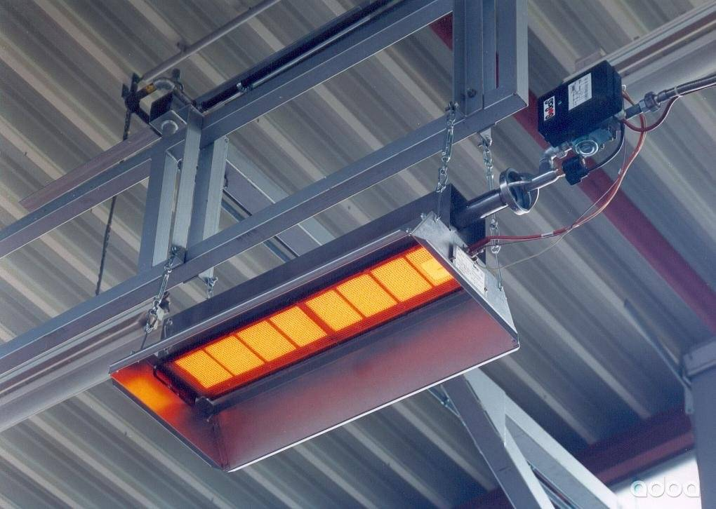 Газовые инфракрасные излучатели для промышленных помещений: устройство, принцип действия, разновидности