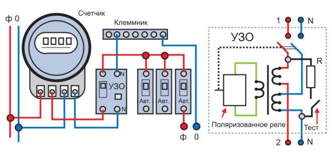 Схема подключения узо в однофазной сети - tokzamer.ru
