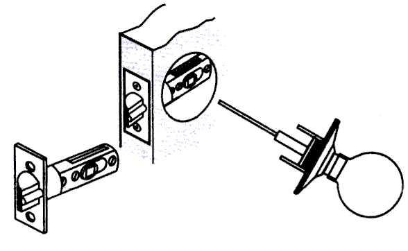 Установка ручки на межкомнатную дверь своими руками (видео)