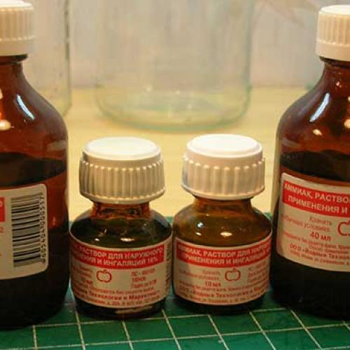 Дозировка и применение нашатырного спирта для комнатных цветов