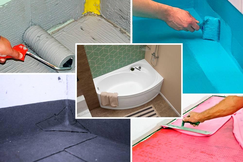 Гидроизоляция ванной: подробное руководство по обработке стыков и швов (90 фото) – строительный портал – strojka-gid.ru