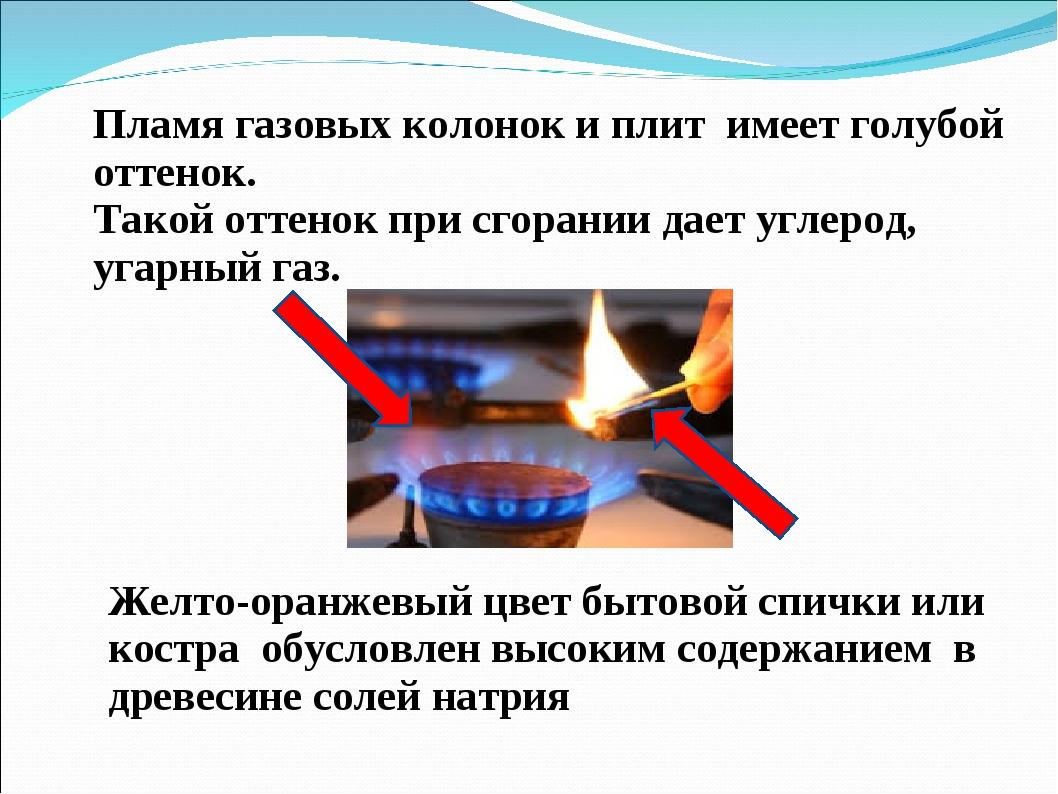 Газ горит оранжевым красным или желтым цветом статьи