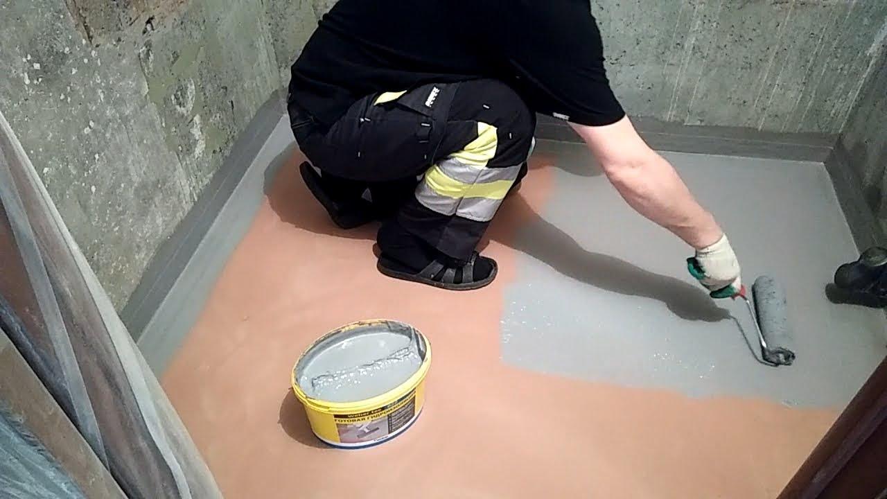 Виды гидроизоляции под плитку, особенности обработки стен и пола в ванной комнате