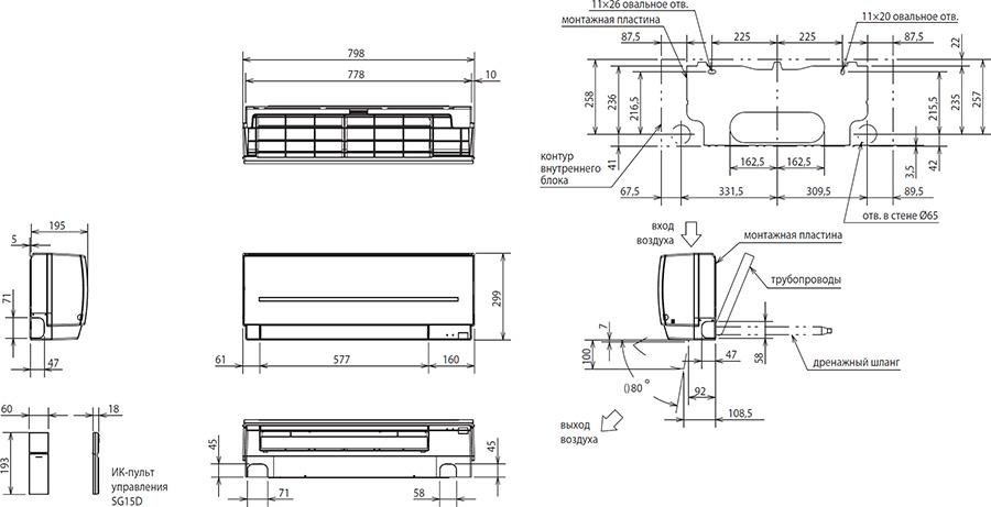 Стандартные размеры кондиционеров: типовые размеры внешнего и внутреннего блока
