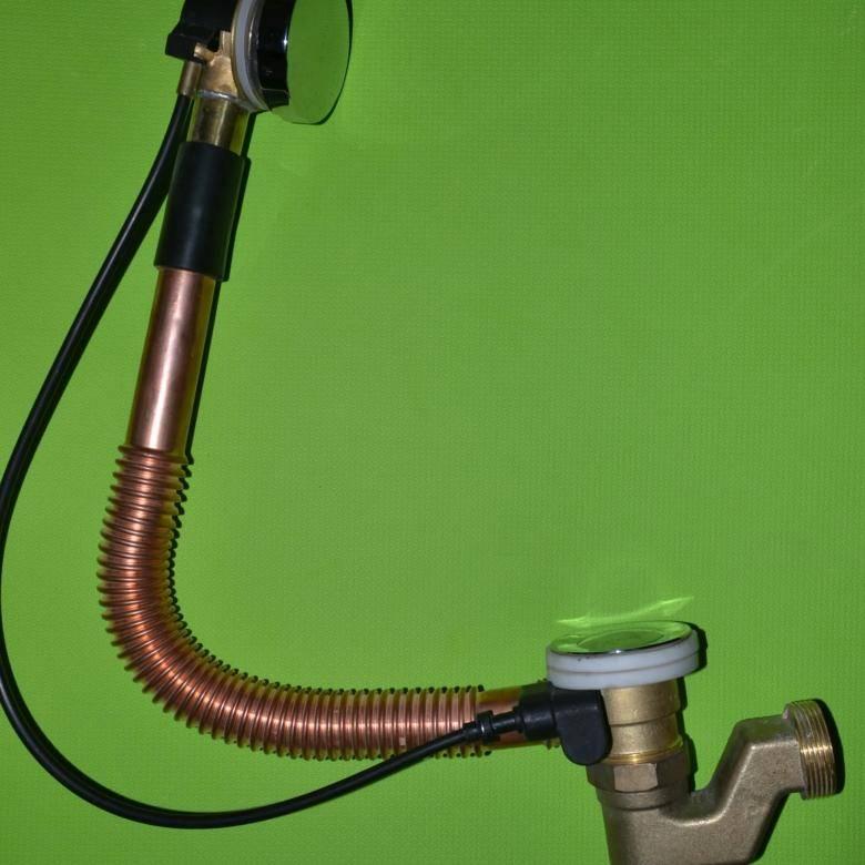 Cлив перелив для ванны полуавтомат, автомат - достоинства и недостатки