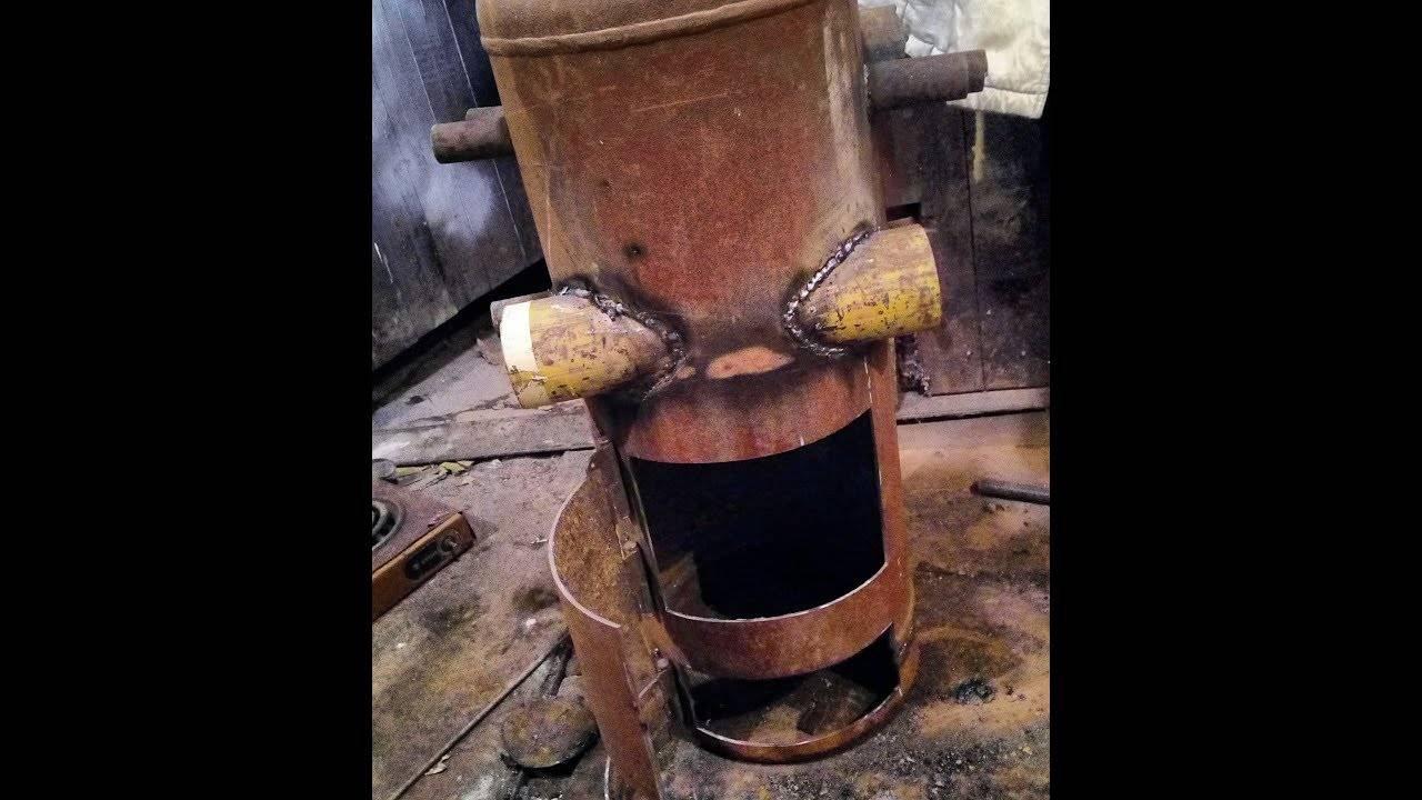 Как сделать эффективную печь из старого газового баллона