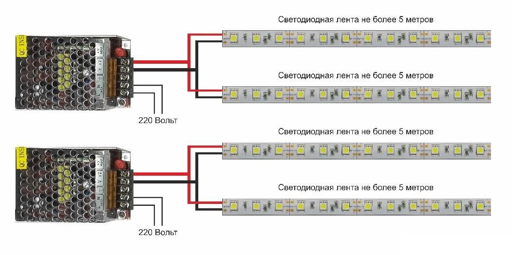 Детали расчета мощности блока питания для светодиодов