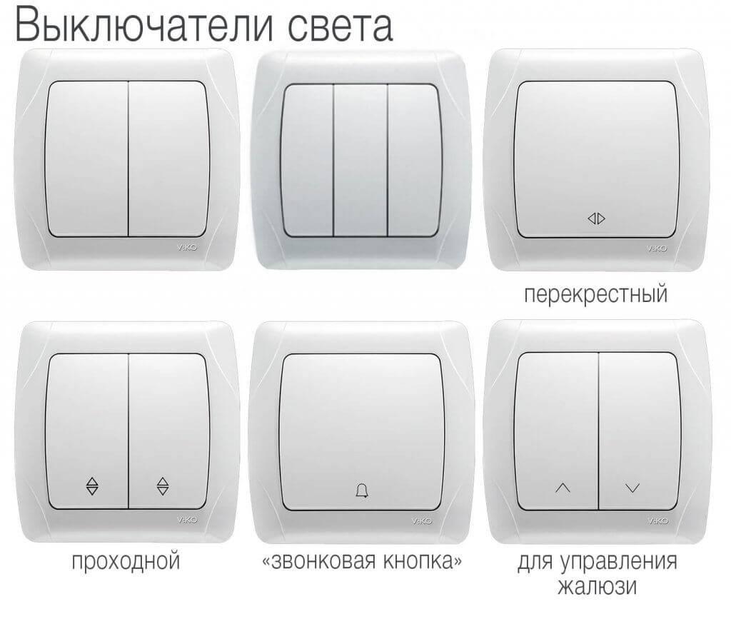 Виды и типы выключателей света: разновидности и востребованные марки - точка j