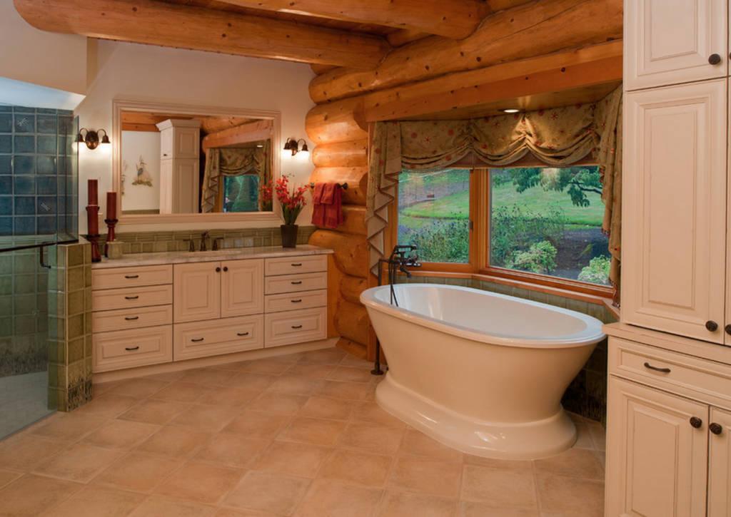 Ванная комната в деревянном доме (75 фото): интересные решения по обустройству, как сделать ремонт в санузле на даче, отделка и дизайн своими руками