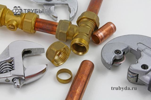 Монтаж медных труб отопления - способы монтажа, соединение капиллярной пайкой и на фитингах