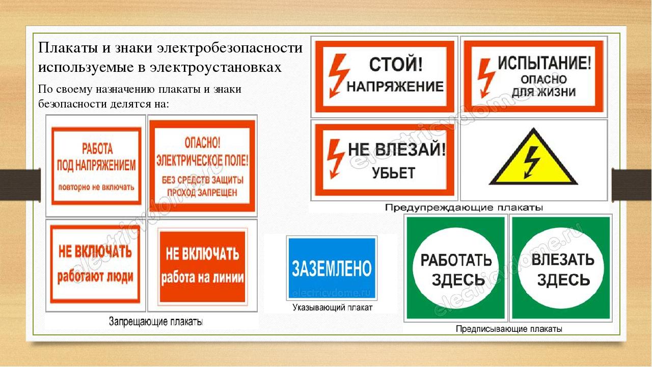 Знаки электробезопасности в картинках