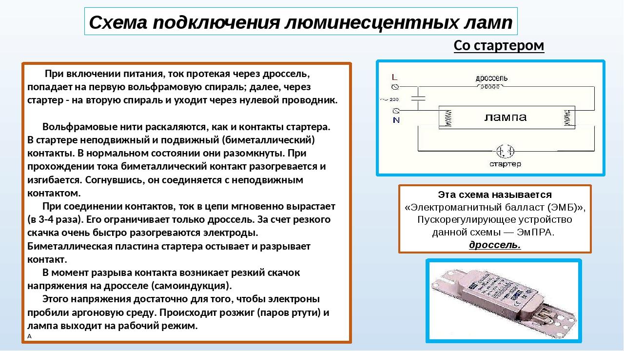 Эпра для люминесцентных ламп: отличие от эмпра, как работают, как выбрать