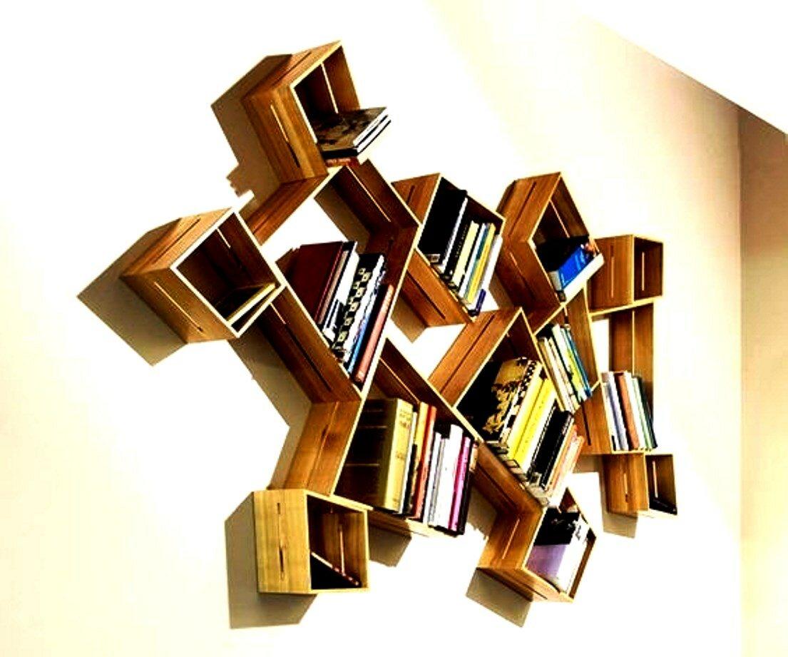 Полка для книг своими руками: мастер-класс, основные варианты и идеи создания