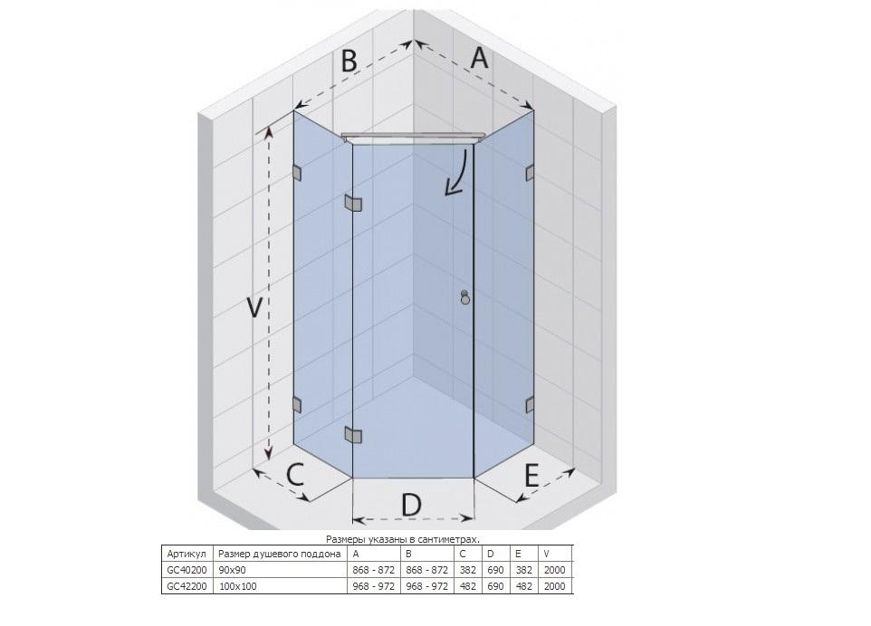 Высота душевой кабины: стандарт и оптимальные размеры