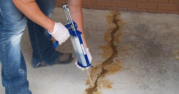 Как выполняется ремонт трещин в бетоне