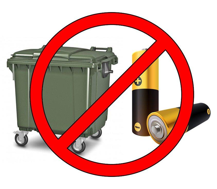 Почему нельзя и когда можно выбрасывать батарейки в мусор. мифы и заблуждения о загрязнении природы.