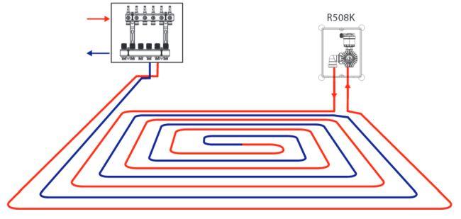 Комбинированная система отопления схемы
