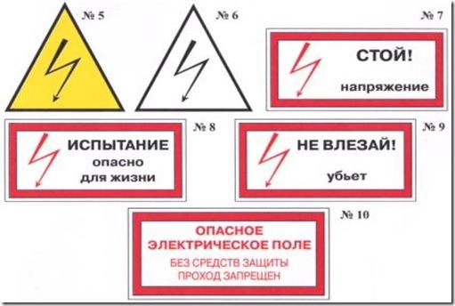 Виды плакатов в электроустановках - всё о электрике