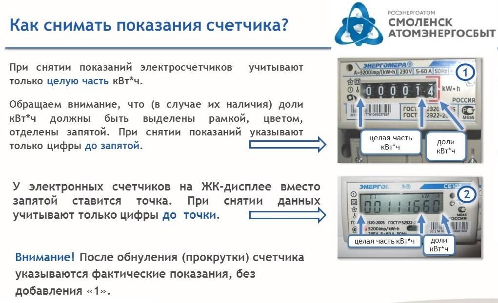 Показания за электроэнергию - передача показаний электроэнергии по лицевому счету через интернет, по смс, по телефону