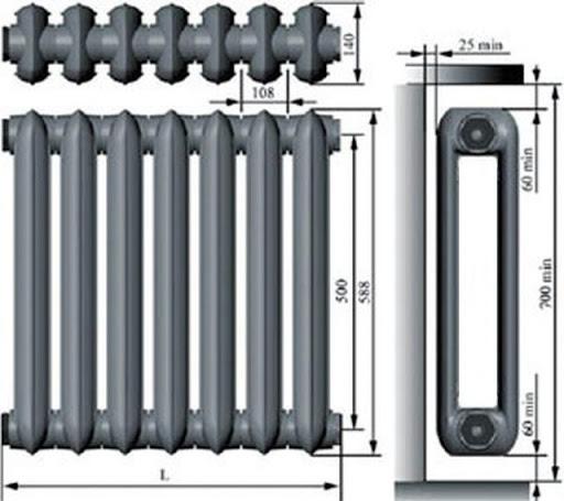 Какая теплоотдача чугунных радиаторов отопления