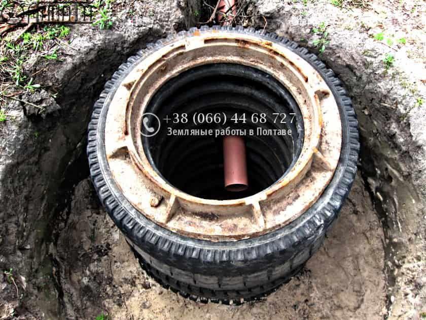 Выгребная яма из покрышек: устройство, расчеты, материалы и монтаж