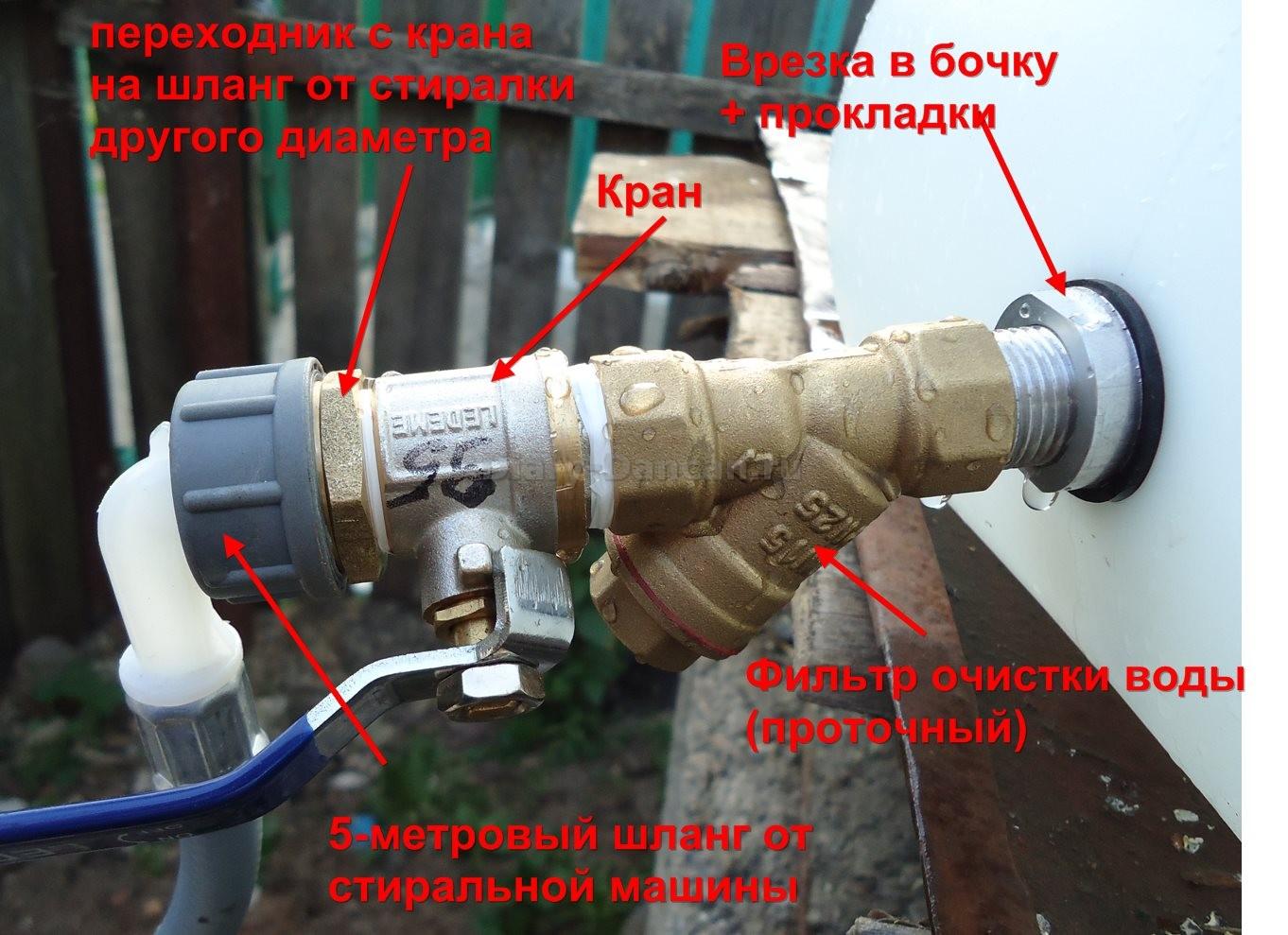 Кран для подключения стиральной машины к водопроводу. размеры резьбы 3/4