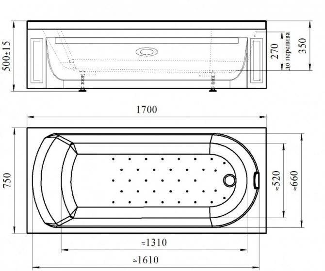 Высота установки ванны от пола: нормы и допустимые отклонения
