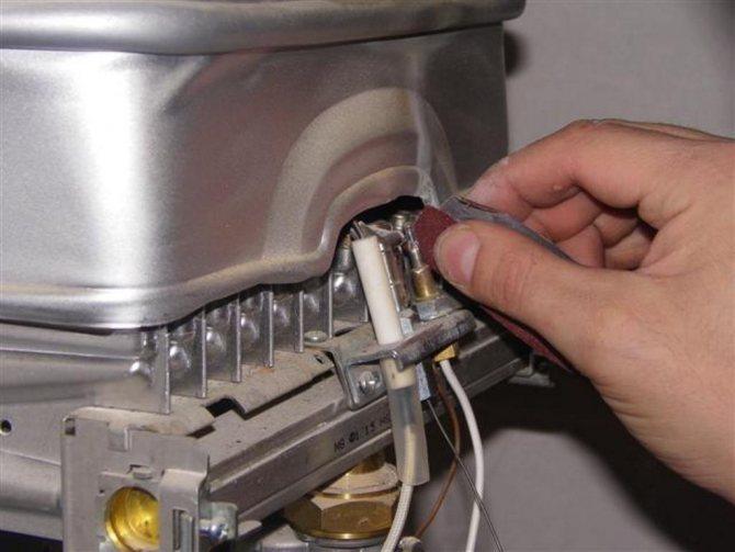 Как почистить газовую колонку bosch
