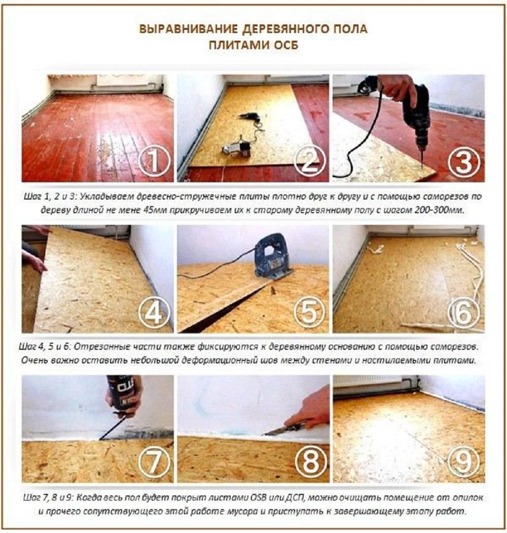 Как выровнять пол в доме — частном деревянном или старом панельном: инструкции, как своими руками провести работы по выравниванию, в том числе с применением фанеры