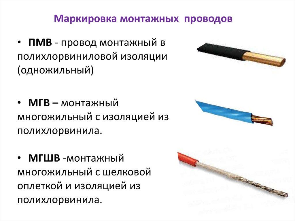 Характеристики проводов