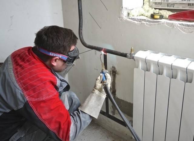 Замена батарей отопления газосваркой: обзор технологии проведения работ